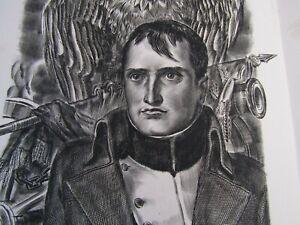 Albert Decaris / Composition originale gravée sur cuivre / Napoléon Bonaparte