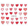 Nail Art Water Decals Stickers Transfers VALENTINES Day Love Hearts BN598
