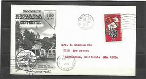 1965 Fleetwood Nevada Statehood 100th Anniversary Event Cover, Portland, OR