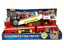 Paw Patrol Ultimate Rescue Fire Truck Light Up Toy with 2 Foot Ladder