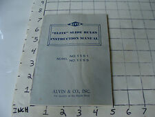"vintage Slide Rule Instructions: ALVIN ""elite"" no. 1151 & 1155, 38page Kamiyama"
