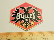 VTG 80's SANTA CRUZ BULLET WHEELS DRAGON MISPRINT NOS SKATEBOARD DECK STICKER !!