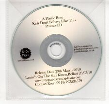 (GP384) A Plastic Rose, Kids Don't Behave Like This - 2010 DJ CD