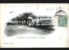 PHILIPPEVILLE (ALGERIE) KIOSQUE à MUSIQUE & KIOSQUE à JOURNAUX animé avant 1904
