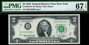 1976* $2 New York Federal Reserve STAR Note FRN 1935-B* • PMG 67 EPQ Superb Gem
