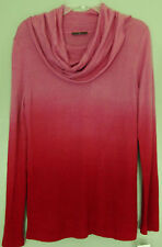 NWT Cullen Rayon & Cashmere Blend Ombre Pattern Cowl Neck Sweater Size Small