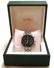 Paul Picot Gentleman Chronograph Stainless Steel men's watch, boxed MINT-