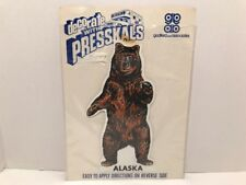 Vintage Presskal Alaska Bear Decal Godfred And Associates NOS
