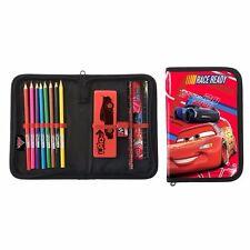 DISNEY Cars 3 astuccio riempito AUTO Matite, temperamatite, gomma, righello