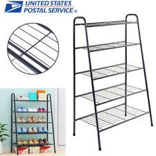 5-Tier Shoe Rack Tower Iron Shoes Shelf Storage Organizer Stand Holder Furniture
