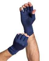 Tommie Copper Mens Half Finger Support Compression Gloves Hand Pain Relief