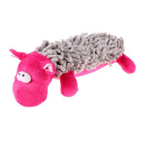 Squeaking Dog Toy Stuffed Plush Hippo Playing Toys for Small Dogs Accessorie 1P6