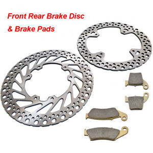 Front Rear Brake Disc + Pads Honda CR125R 250R CRF250R 250X CRF450R 450X 02-14