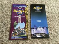 Universal Studios Florida Orlando Hard Rock Hotel Brochures Mint Condition