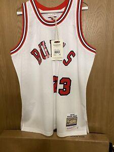 100% Authentic Michael Jordan 1984-85 Mitchell & Ness Chicago Bull Jersey Sz 44L