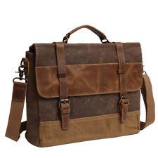 Leather Vintage Messenger Shoulder Men Satchel Laptop School Briefcase Bag