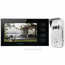 7'' HOMSECUR Video Entry Intercom with Black IR HD Camera, Works with 12V Lock