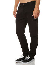 "BRAND NEW + TAG BILLABONG 'NEW ORDER' CHINO PANT MENS 36"" BLACK STEALTH STRETCH"