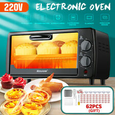 9L 220V 600W Portable Electric Oven Household Timing Temperature Control Oven