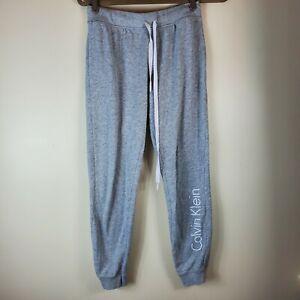 Calvin Klein Women Jogger Sleepwear Pajamas Pants Gray small