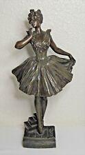 "Original Bronze Sculpture ~ Emmanual Villanis ""BALLERINE SUR LES POINTES"""