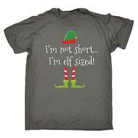 Im Not Short Im Elf Sized T-SHIRT Christmas Funny Present Gift Xmas santa