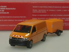 Herpa VW T6, kommunal, Transporter mit Planen-Anhänger - 093071  - 1/87