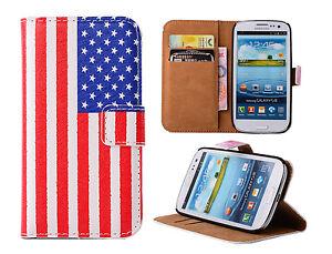 USA Flag Motiv Samsung Galaxy Wallet Handytasche Book Flip Case Schutzhülle Etui
