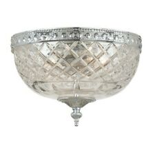 Crystorama 2 Light Chrome Crystal Ceiling Mount II - 117-10-CH