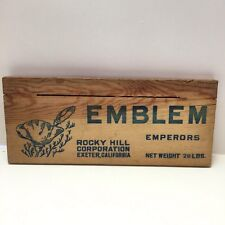 Emblem Emperors Exeter California Rocky Hill Corp Wood Crate Box Side