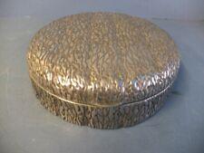 Große, runde Deckelschatulle, 800er Silber, Italien, Milano, Art Deco 30er Jahre