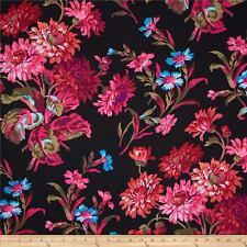 Fat Quarter Kaffe Fassett Anne Marie - BLACK - Cotton Quilting Fabrics