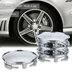 4pack Chrome 75mm/69mm Car Wheels Center Caps Hub Cover For Mercedes Benz NO