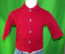 PETIT BATEAU enfant 1 an 12 mois gilet cardigan rouge foncé en coton