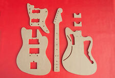 """Jazzmaster Router Template Set wNeck and Pickguard Cnc Luthier Tools 1/2"""" Mdf"""