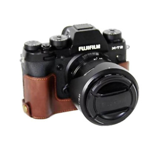 PU Leather Camera Case Half Bag For FujiFilm XT2 XT3 FUJI X-T2 X-T3 Camera