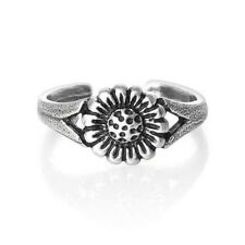 925 Best Deal Jewelry Gift Flower Toe Ring Solid Sterling Silver
