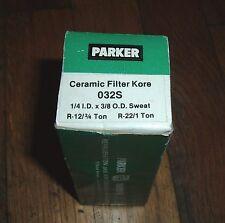 Parker 032S Ceramic Filter Kore 1/4 I.D. x 3/8 O.D. Sweat