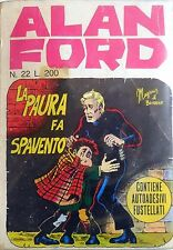 ALAN FORD N.22 1971 MAGNUS BUNKER CORNO EDITORE FUMETTO NO ADESIVI