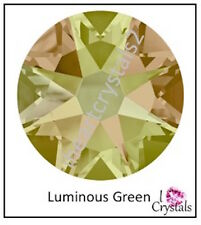 LUMINOUS GREEN Swarovski 20ss 5mm 2058 Crystal Flatback Rhinestones 12 pieces
