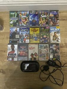 PSP-1000 Base Pack 32GB Black Handheld System With 11 Games 4 UMD Video