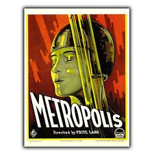 Metropolis (1927) Film METAL SIGN PLAQUE Vintage Retro Advert Poster Print scifi