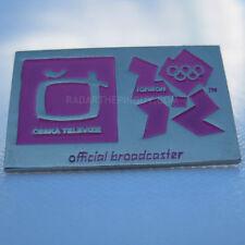 2012 London Olympic Czech TV Media Pin
