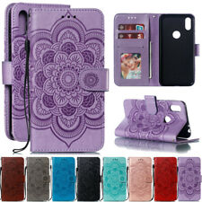For Motorola Moto P30 G7 E5 Sunflower Leather Flip Wallet Stand TPU Case Cover