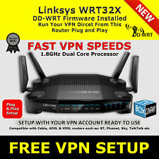 LINKSYS WRT32X DDWRT FAST VPN WIRELESS ROUTER OPENVPN DD-WRT PLUG & PLAY