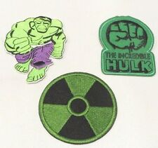 THE INCREDIBLE HULK PATCH SET OF THREE (3) EMBROIDERED PATCHES