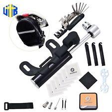 UILB Multi-Function Bike Repair Tool Kits with 16-in-1,Saddle Bag, Pump120PSI