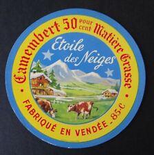 Etiquette fromage CAMEMBERT ETOILE DES NEIGES Vendée cheese label 8