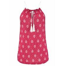 UK Boho Womens Summer Vest Tops Blouse Ladies Sleeveless Beach T-Shirt Plus Size