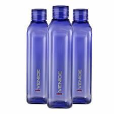 Plastic Fridge Refrigerator Water Bottle Set- 3 pieces, 1 L, Purple, BPA Free